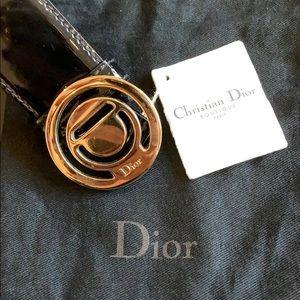 💯 Christian Dior initiales 4cm Verni Patent Belt